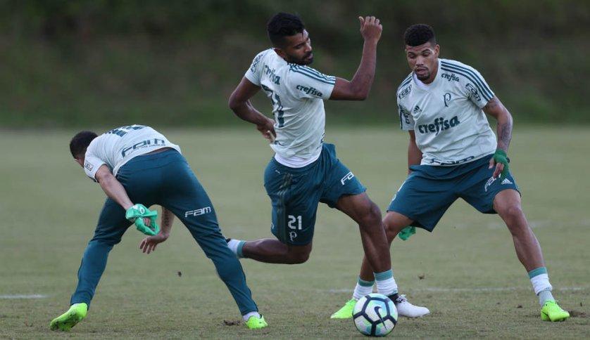 Thiago Santos trabalhou na primeira parte da movimentação do Palmeiras. (Cesar Greco/Ag Palmeiras/Divulgação)