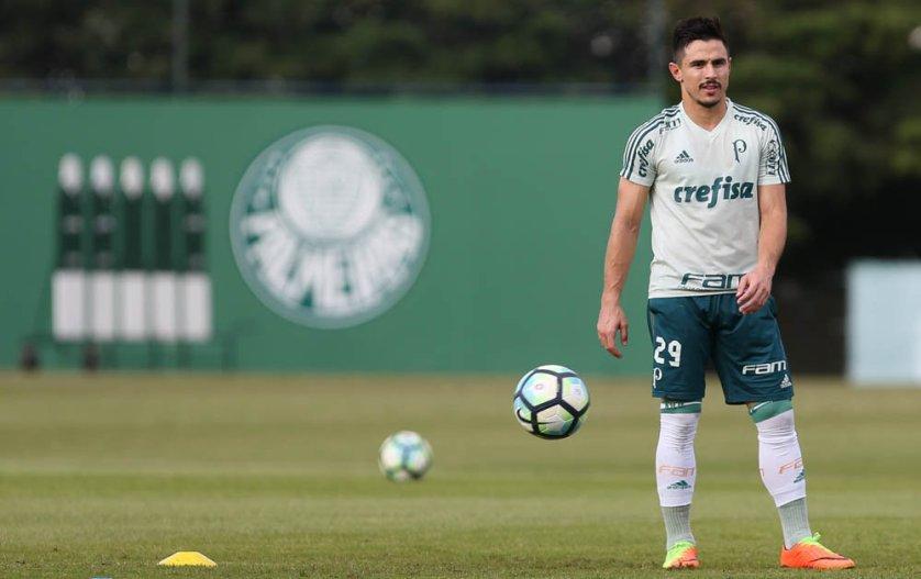 Willian marcou o gol da vitória sobre o Santos por 2 a 1, em março, pelo Paulista. (Cesar Greco/Ag Palmeiras/Divulgação)