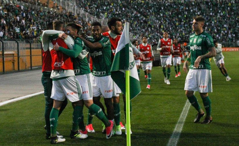 O gol palmeirense saiu em jogada de Raphael Veiga. (Cesar Greco/Ag. Palmeiras/Divulgação)