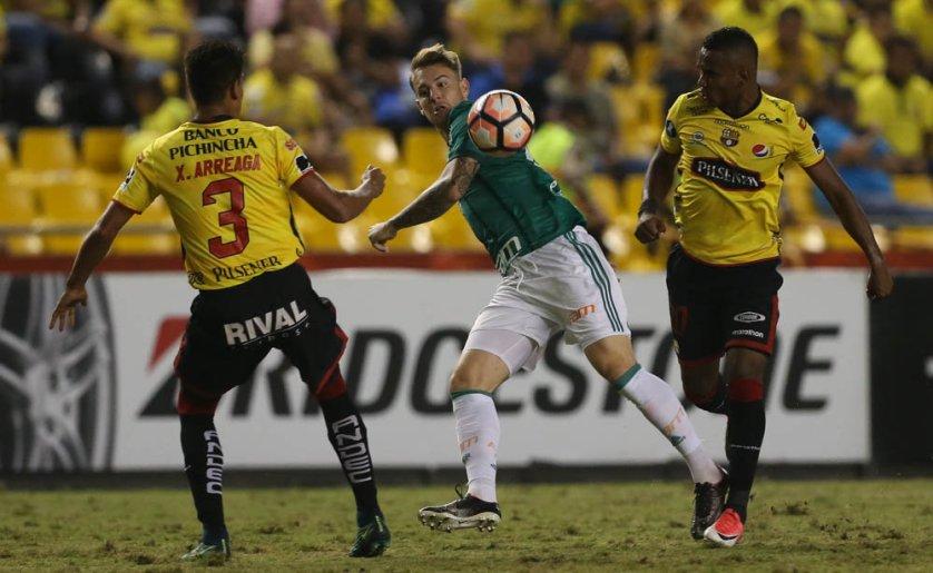 No dia 9 de agosto o Palmeiras decide, com o Barcelona-EQU, a classificação na Libertadores. (Cesar Greco/Ag Palmeiras/Divulgação)