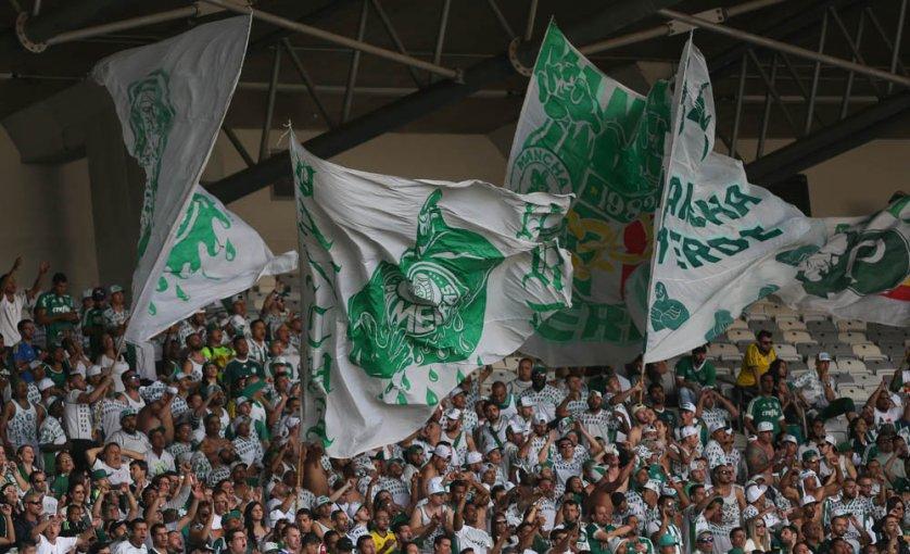 Torcida palmeirense, empurrará o Verdão para a classificação fora de casa. (Cesar Greco/Ag Palmeiras/Divulgação)