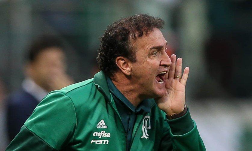 O treinador concedeu entrevista coletiva após o jogo contra o Atlético-PR. (Cesar Greco/Ag. Palmeiras/Divulgação)