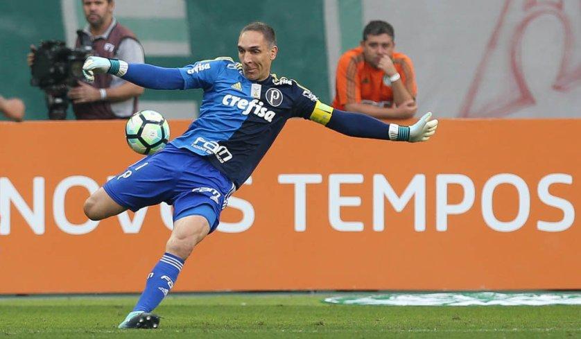 Contra o São Paulo, Frrnando Prass chega a 50 vitórias no Allianz Parque. (Cesar Greco/Ag. Palmeiras/Divulgação)