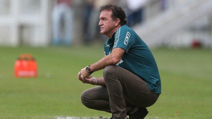 Cuca elogiou postura do Palmeiras em Minas e valoriza empate pelas circunstâncias do jogo. (Cesar Greco/Ag Palmeiras/Divulgação)