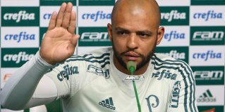 Após conversa com diretoria e Cuca, Felipe Melo afirma: 'Tudo solucionado'