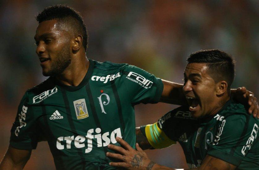 Borja marcou o seu oitavo gol com a camisa do Palmeiras. (Cesar Greco/Ag. Palmeiras/Divulgação)