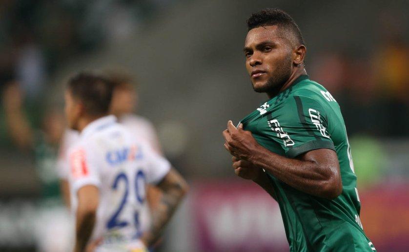Borja marcou os dois gols no empate contra o Cruzeiro, por 2 a 2. (Cesar Greco/Ag Palmeiras/Divulgação)