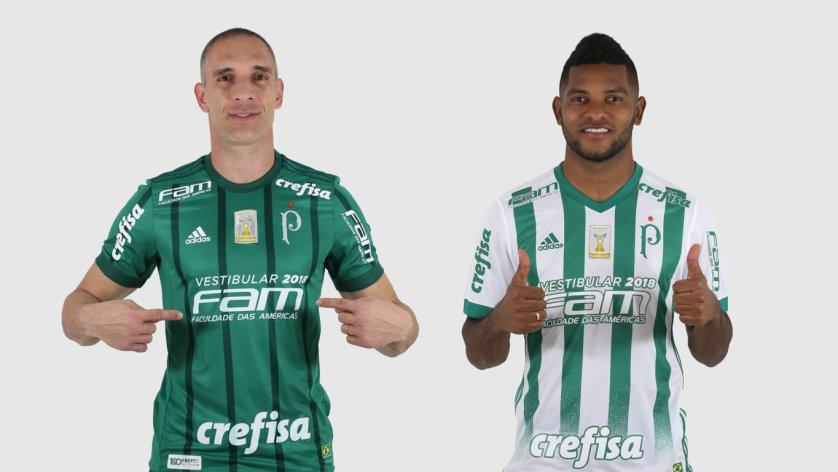 No domingo (05), o patrocinador máster mudará para 'Vestibular 2018 FAM'. (Cesar Greco/Ag. Palmeiras/Divulgação)