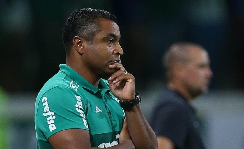 Roger Machado viu uma equipe com rendimento abaixo do apresentado nos primeiros jogos do Paulista. (Cesar Greco/Ag Palmeiras/Divulgação)