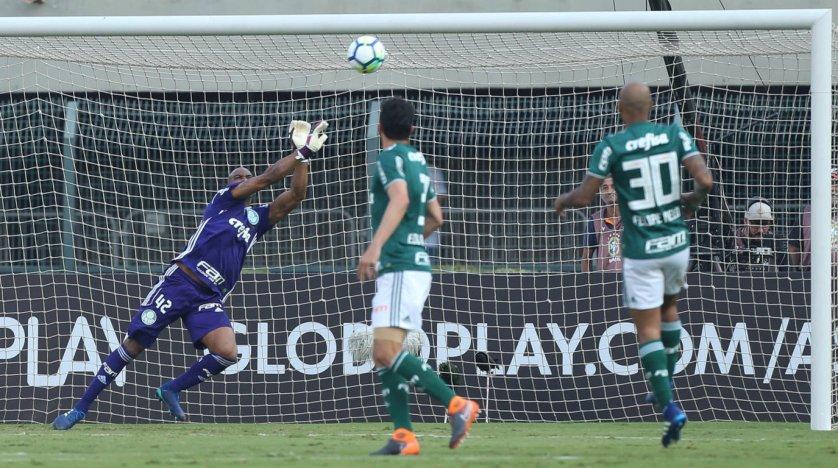 Contra o Internacional, Jailson alcançou 26 jogos invictos em Brasileiros. (Cesar Greco/Ag Palmeiras/Divulgação)