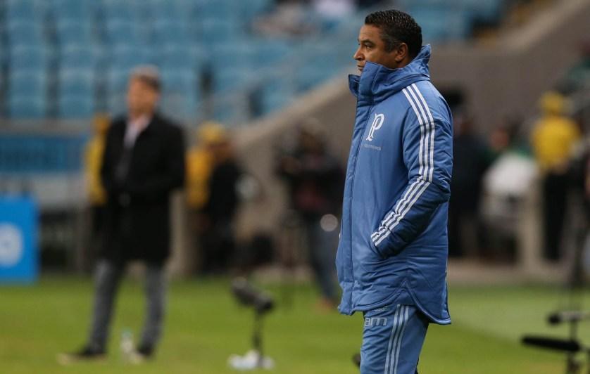 Roger Machado mostrou enorme satisfação com atuação do Verdão contra o Grêmio. (Cesar Greco/Ag. Palmeiras/Divulgação)