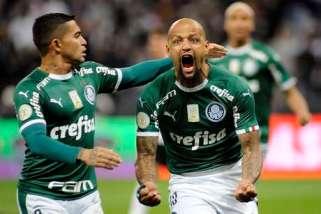 Confira o gol de Felipe Melo pela lente exclusiva da TV Palmeiras!