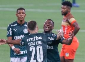 Palmeira goleia e está nas quartas da Libertadores