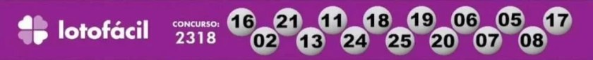 Check the numbers drawn on this Thursday's Lotofácil (26/8)