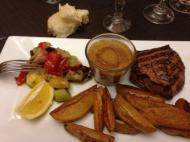Filet de boeuf, sauce au poivre