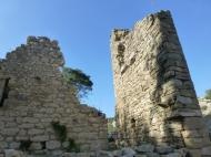 Ruined fortifications in Minerve, Langudedoc, France