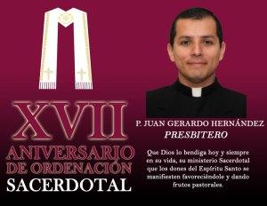 XVII ANIVERSARIO DE ORDENACIÓN SACERDOTAL