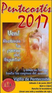 SAN FERNANDO DE ROSAS INVITA A LA VIGILIA DE PENTECOSTÉS EN ZARAGOZA COAH.