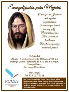 RENOVACIÓN CARISMÁTICA INVITA A LA EVANGELIZACIÓN PARA MUJERES EN PIEDRAS NEGRAS