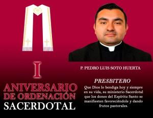 I ANIVERSARIO SACERDOTAL DE PEDRO LUIS