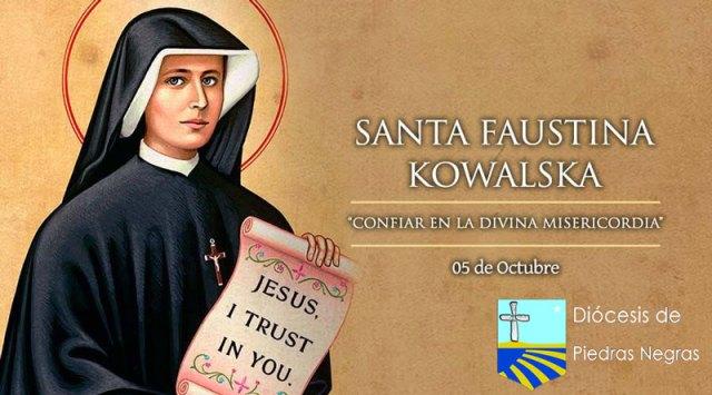Santa Faustina Kowalska, servidora de la Divina Misericordia