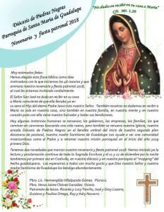 FIESTA PATRONAL DE SANTA MARÍA DE GUADALUPE EN ACUÑA