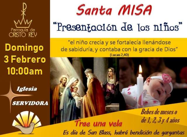 PRESENTACIÓN DE LOS NIÑOS EN CRISTO REY PIEDRAS NEGRAS