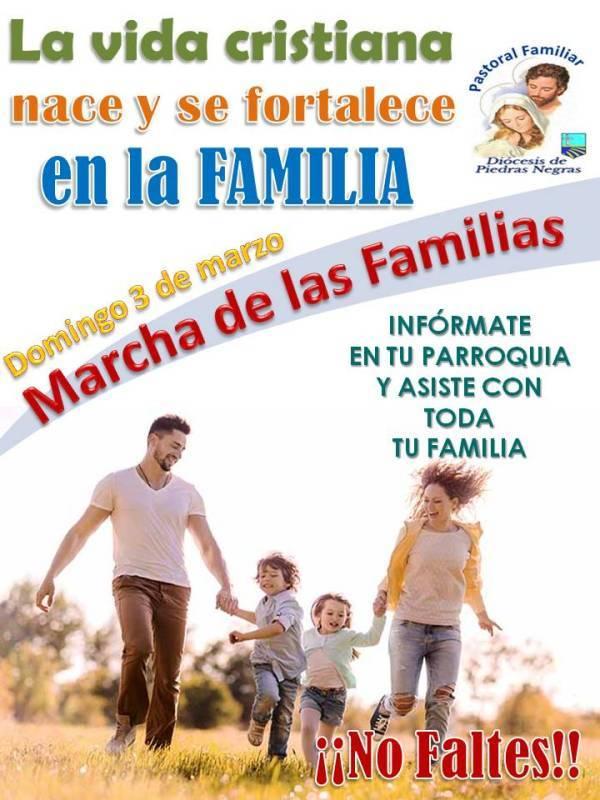 CONSULTA AQUÍ EL HORARIO DE LA MARCHA DE LAS FAMILIAS DE TU CIUDAD