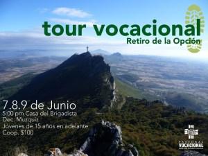 "SE INVITA AL TOUR VOCACIONAL ""RETIRO DE LA OPCIÓN"""