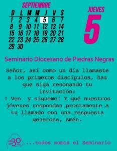 TODOS SOMOS EL SEMINARIO (05 SEPTIEMBRE)