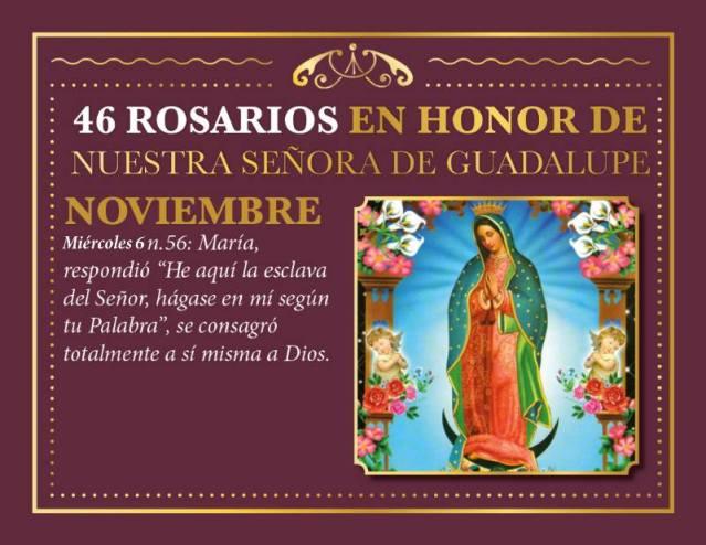 46 ROSARIOS EN HONOR A NUESTRA SEÑORA DE GUADALUPE (DÍA 11)