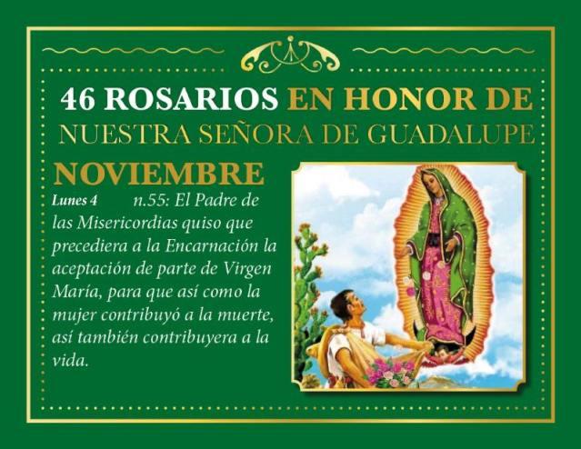 46 ROSARIOS EN HONOR A NUESTRA SEÑORA DE GUADALUPE (DÍA 09)