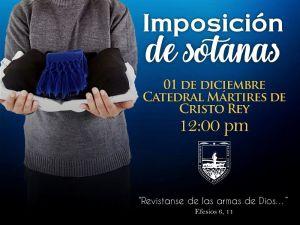 SEMINARIO DIOCESANO DE PIEDRAS NEGRAS INVITA A LA IMPOSICIÓN DE SOTANAS