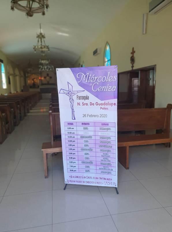 PARROQUIA GUADALUPE INVITA AL MIÉRCOLES DE CENIZA EN PALAÚ