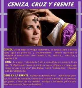 PARROQUIA CRISTO REY INVITA AL MIÉRCOLES DE CENIZA EN ACUÑA