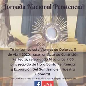 CATEDRAL INVITA A LA JORNADA NACIONAL PENITENCIAL