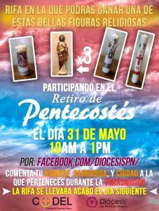 PARTICIPA EN LA RIFA QUE HABRÁ EN EL RETIRO DE PENTECOSTÉS