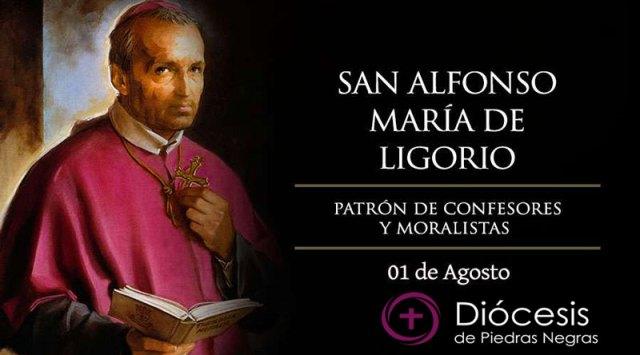 Hoy celebramos a San Alfonso María de Ligorio, patrono de confesores y moralistas