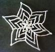 Pretty Picot Poinsettia Snowflake