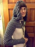 Hooded Dragon Scale Shrug