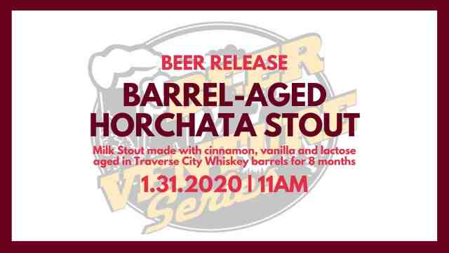 Barrel Aged Horchata Stout Release January 31, 2020 all long!