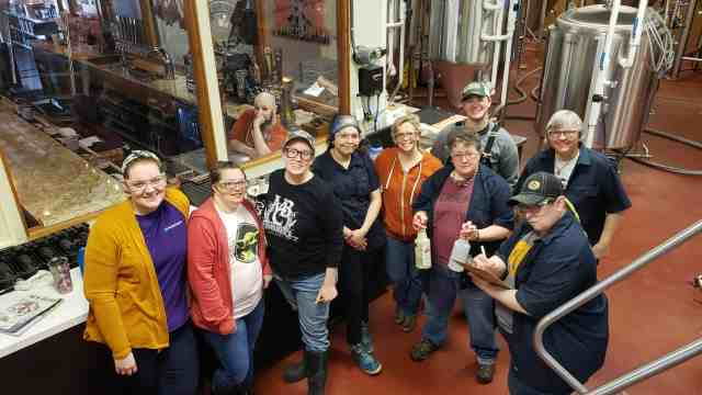 Female brewers from across the state of Michigan gathered at Midland Brewing Company to brew a tribute beer in celebration of International Women's Collaboration Brew Day.