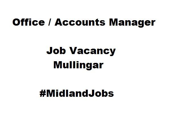 New Accountancy vacancy Mullingar #MidlandJobs #SageJob #