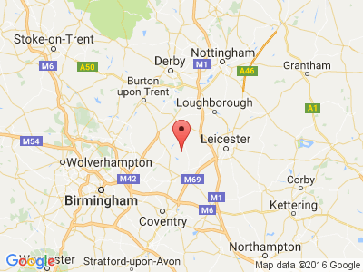 google-map-of-midland-mallard-canal-boat-holiday-hire