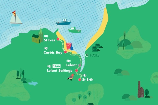 st ives map