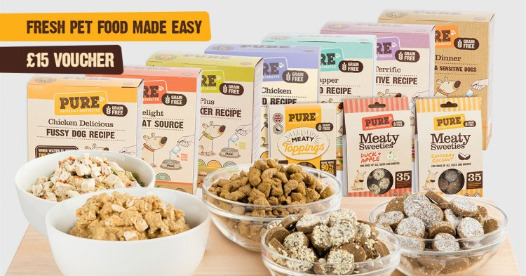 Try Pure Pet Food today and get £15 off any starter packs!