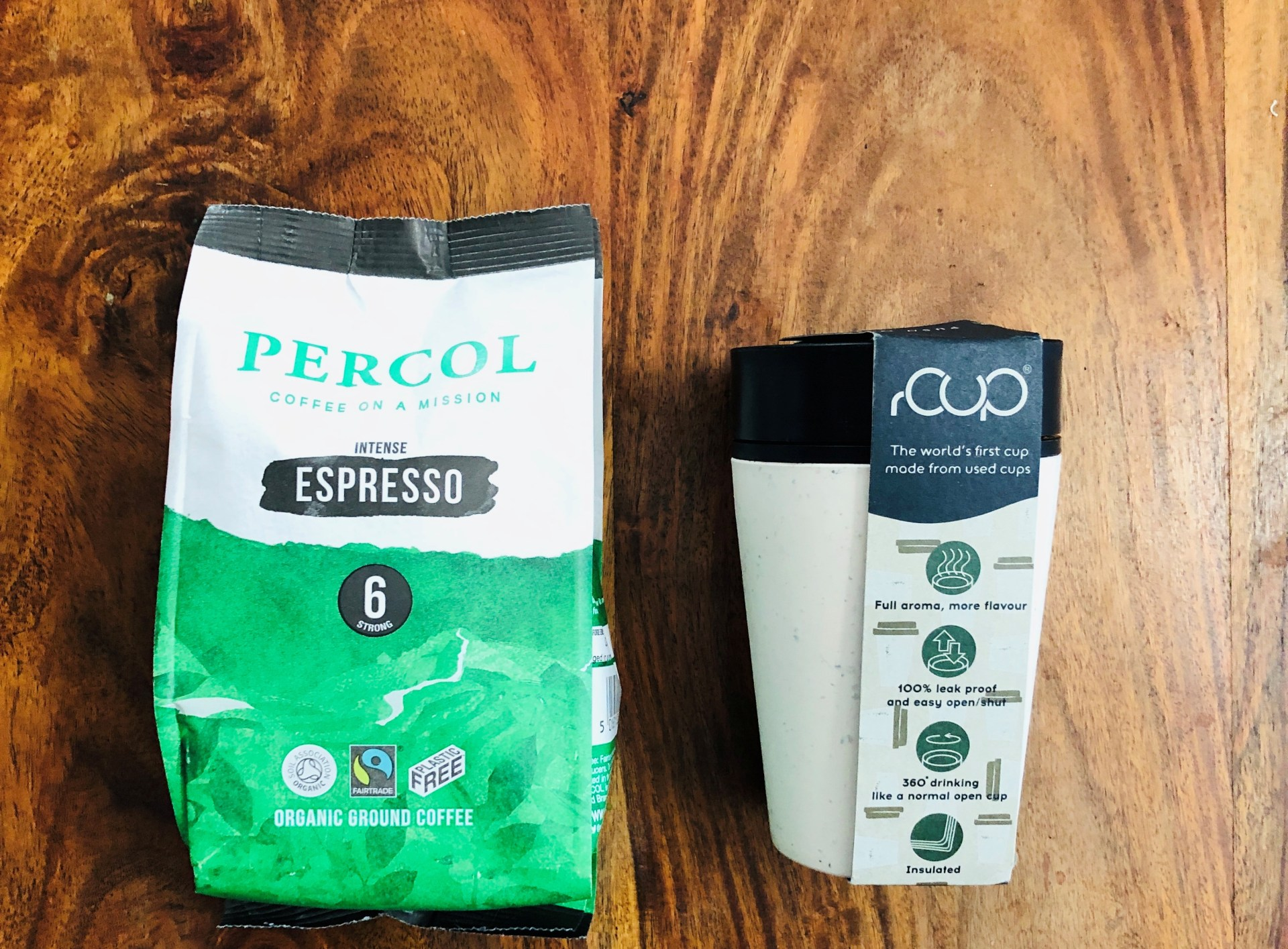 Win A Low Impact Coffee Bundle | Percol Ground Espresso Coffee + a rCUP Reusable Cup [closed]