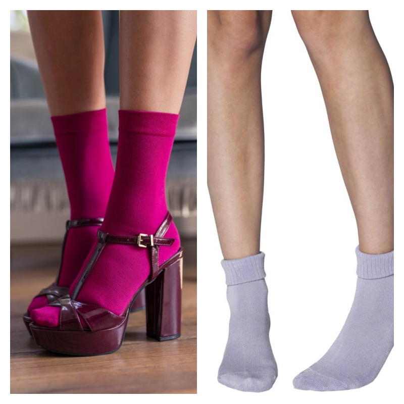 [closed] Ladies' Bamboo Socks Bundle 2 | Autumn Combo – A package with 2 pairs of Elle Bamboo Ankle Socks with Cushion and 1 pair of Colour Bust Bamboo socks by Sock Shop