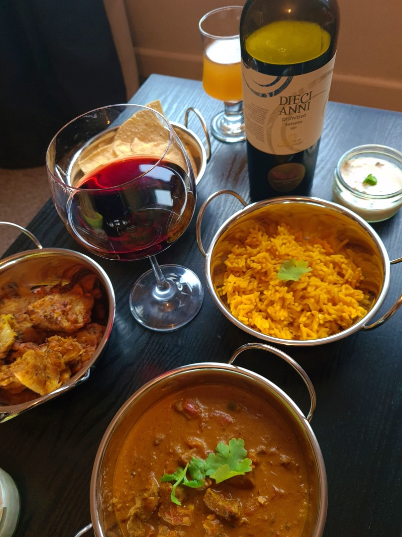 Pairing Wine and Food # 4 | Diecianni Primitivo (Zinfandel) 2017 + Beef Curry