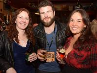 No Reproduction Fee Edel Curtin, Joey Ryan and Kate O'Brien, Coughlans Bar, pictured at the launch of the Franciscan Well Jameson-Aged Pale Ale. Pic John Sheehan Photography